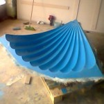 polyester kubbe, ctp ters tavan